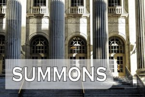 What To Do If You Receive a Summons